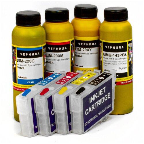 Набор перезаправляемых картриджей с чернилами ink-mate для Epson Expression Home XP-313, XP-323, XP-413, XP-423, XP-103, XP-203, XP-303, XP-306, XP-207, XP-406, XP-33