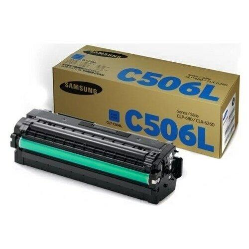 Фото - Картридж лазерный SAMSUNG CLT-C506L голубой (3500с картридж лазерный samsung clt y506s желтый 1500ст