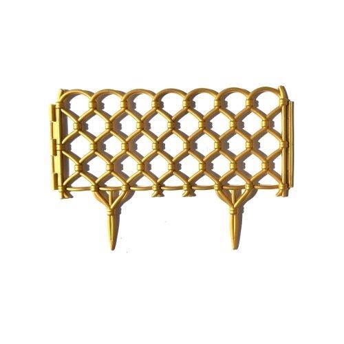 Забор декоративный Дачная мозаика 15304, 2.8 х 0.01 х 0.28 м, золотистый