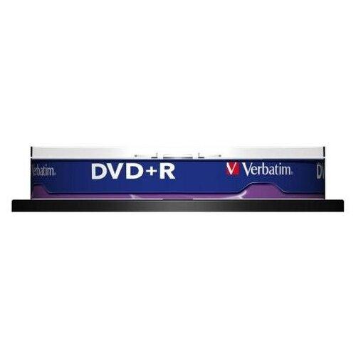 Verbatim Диски DVD+R 4.7Gb Verbatim 16x 10 шт Cake Box <43498>