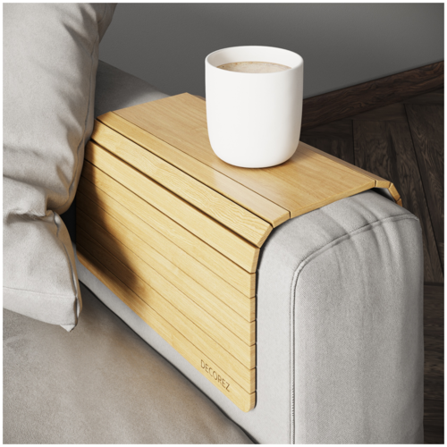 DECOREZ / Кофейный столик/ Столик для завтрака/ Столик/ Поднос деревянный/ Подставка под горячее/ Поднос