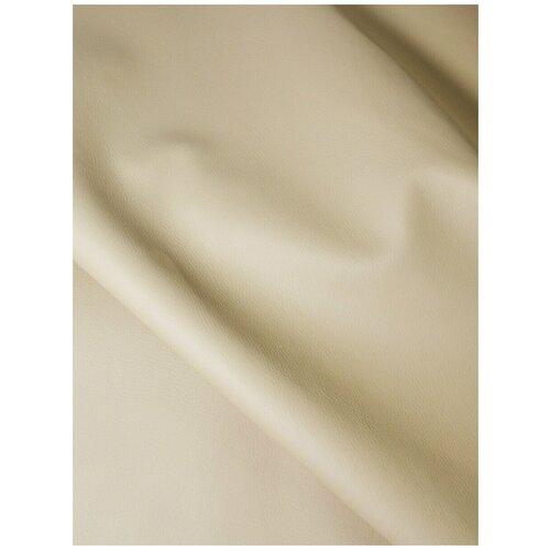 Экокожа автомобильная, искусственная кожа, гладкая - 140х50 см, цвет: бежевый