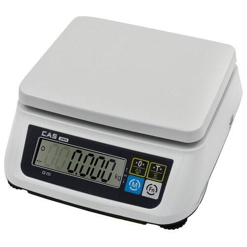 Весы торговые настольные порционные электронные CAS SWN-15 весы торговые электронные cas er jr 30cb