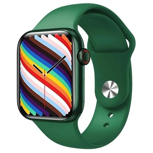 Умные часы IWO HW19 Series 6, два ремешка, 44мм, зеленые