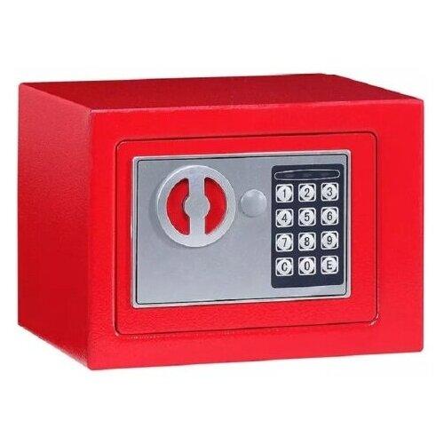 Сейф с электронным кодовым замком SAFEBURG SB-170 red для денег и документов, для дома/квартиры/офиса/в шкаф