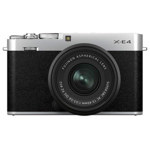 Фото - Фотоаппарат Fujifilm X-E4 Kit серебристый Fujifilm XC 15-45mm F3.5-5.6 OIS PZ ремень на запястье fujifilm gb 001 grip belt