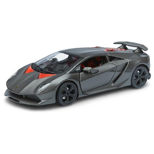 Легковой автомобиль Bburago Lamborghini Sesto Elemento (18-21061) 1:24, 17.5 см, серый металлик