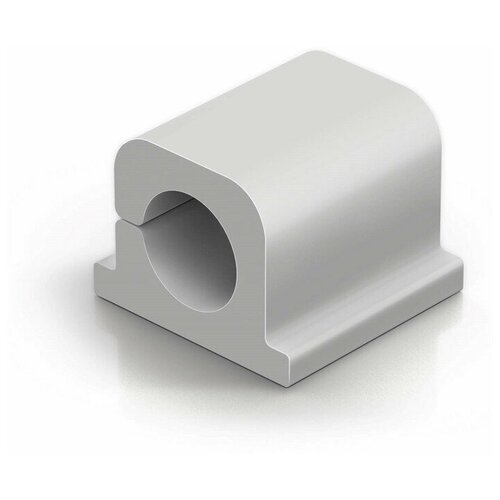 Фиксатор для кабеля до 8мм DURABLE CAVOLINE® CLIP PRO 1, серый, 6шт./уп.