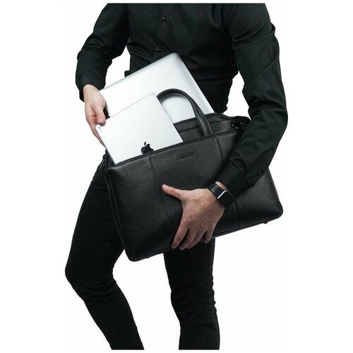 Надежная мужская сумка с наплечным ремнем/Италия, 100% натуральная кожа