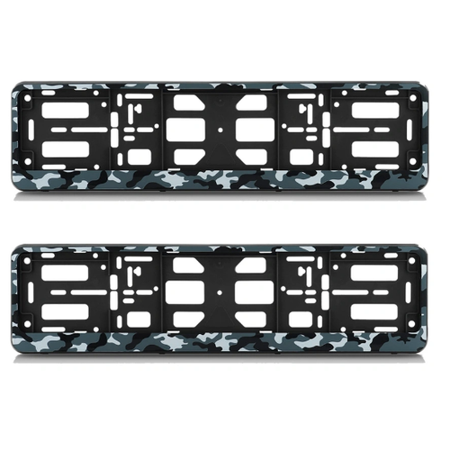 Комплект рамок-книжек номерного знака АЕР, камуфляж амеба (серый) комплект 2 штуки Комплект рамок-книжек номерного знака АЕР, камуфляж амеба (серый) комплект 2 штуки