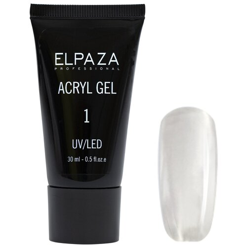 Купить ELPAZA, Полигель для наращивания и моделирования ногтей №1 (прозрачный), 30 мл.