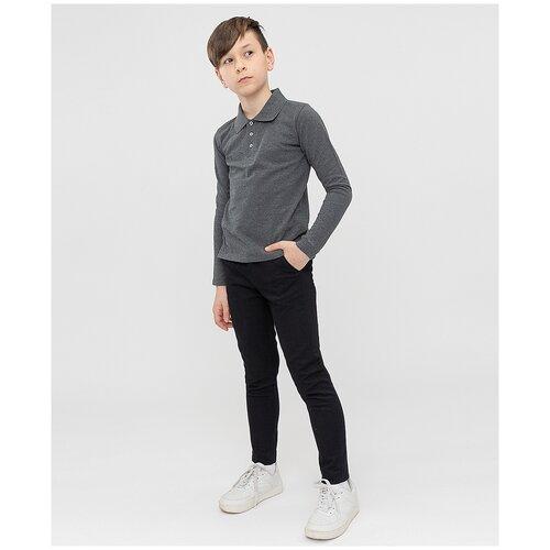 Брюки черные Button Blue для мальчиков, цвет черный, размер 134, модель 221BBBS63030800