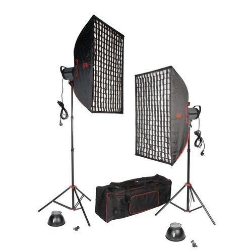 Фото - Комплект галогенных осветителей Falcon Eyes QLBK-1000 v2.0 колпак защитный для осветителей falcon eyes gc 65100uv