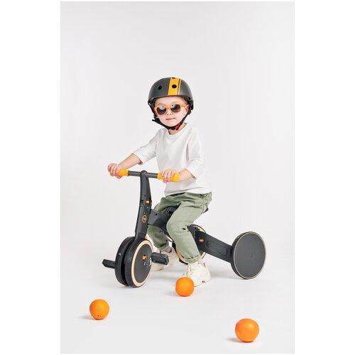 беговел baby care fivity mint 50019, Беговел-трансформер Happy Baby TRIPLE, от 2 лет, беговел и трёхколесный велосипед, набор наклеек, black