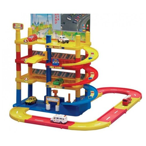 Купить Игровой набор нордпласт 431207 Мега гараж(с дорогой), Нордпласт, Детские парковки и гаражи