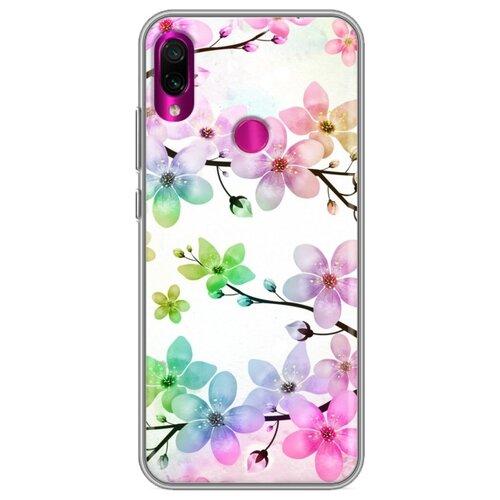 Фото - Дизайнерский силиконовый чехол для Xiaomi RedMi Note 7 Органические цветы ультратонкий силиконовый чехол накладка для xiaomi redmi 7 с принтом нежные цветы