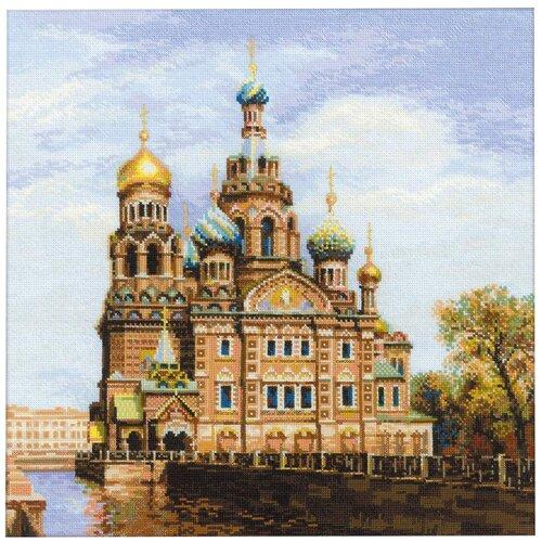 Фото - Риолис Набор для вышивания крестом Санкт-петербург. Храм спаса-на-крови 40 x 40 (1548) риолис набор для вышивания крестом русская охота 60 x 40 1639