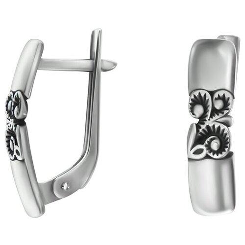 POKROVSKY Серебряные серьги и чернением 2100694-00245 pokrovsky серебряные серьги 2121129 00245
