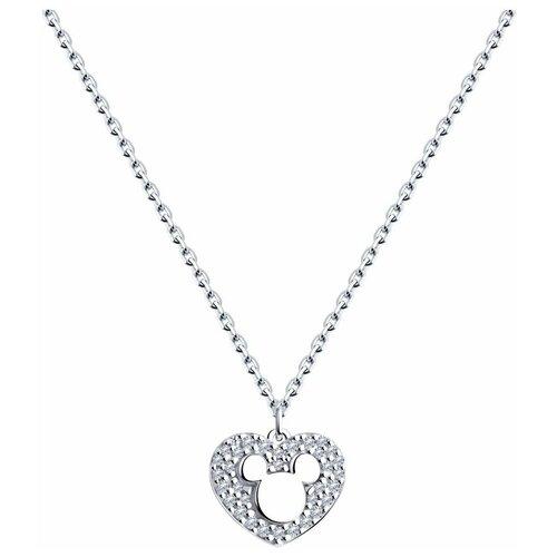 SOKOLOV Колье из серебра с эмалью и фианитами 94070426, 40 см, 4.21 г