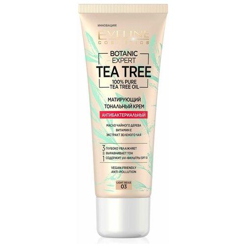 Купить Eveline Cosmetics Тональный крем Botanic Expert Tea Tree, 30 мл, оттенок: 03 light beige