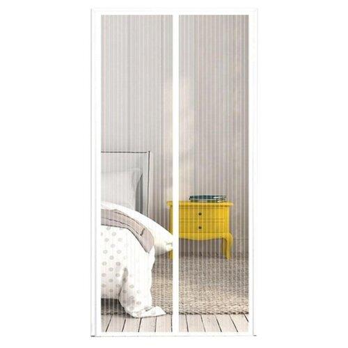 Москитная сетка на дверь на магнитах, белый цвет, 210x100 см.