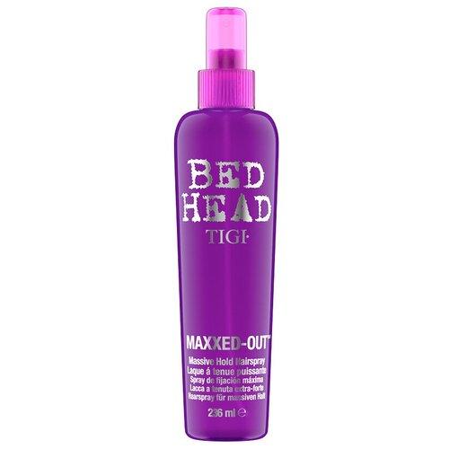 TIGI Спрей для укладки волос Bed head Maxxed-out, экстрасильная фиксация, 236 мл tigi bed head cтайлинговый крем для укладки бороды и волос tigi bh 100 мл