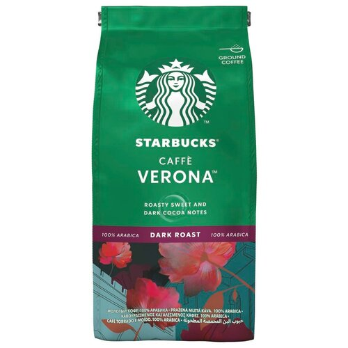 Кофе молотый Starbucks Caffe Verona, 200 г