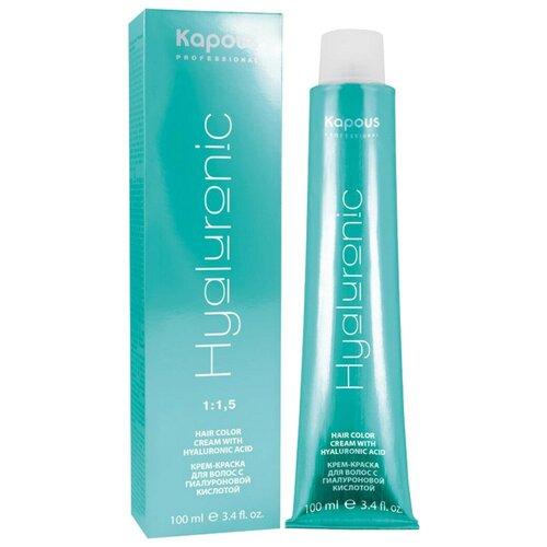 Купить Kapous Professional Hyaluronic Acid Крем-краска для волос с гиалуроновой кислотой, 10.012 Платиновый блондин прозрачный табачный, 100 мл