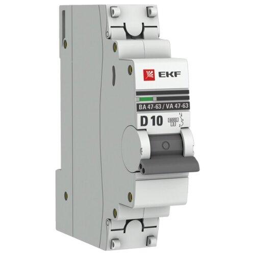 Фото - Автоматический выключатель EKF ВА 47-63 1P (D) 6kA 10 А автоматический выключатель ekf ва 47 63 1p b 6ka 50 а