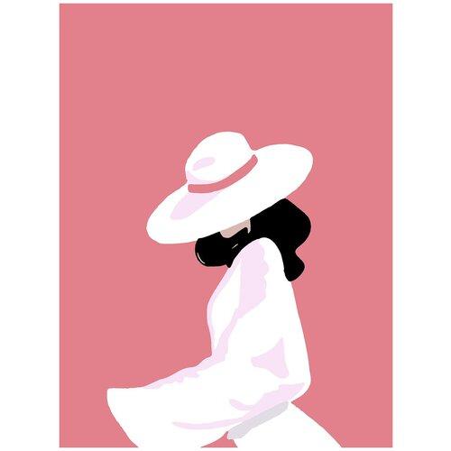 Купить Картина по номерам Минимализм - В шляпе, 80 х 100 см, Красиво Красим, Картины по номерам и контурам