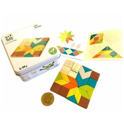 Фото - Развивающая игра Plan Toys Мозаика игра plan toys волчки 4132