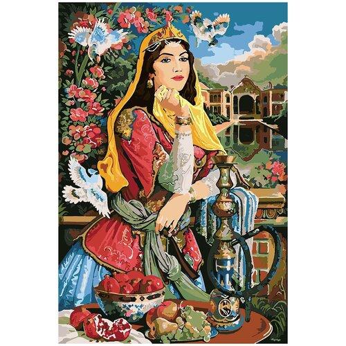 Купить Картина по номерам Восточная красавица, 80 х 120 см, Красиво Красим, Картины по номерам и контурам