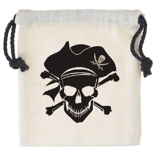 Купить Мешочек Пиратский для кубиков, белый, Pandora's Box Studio, Настольные игры