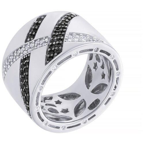 Фото - ELEMENT47 Широкое ювелирное кольцо из серебра 925 пробы с кубическим цирконием ARS101001W_KO_001_WG, размер 18 element47 широкое ювелирное кольцо из серебра 925 пробы с кубическим цирконием 05s2azr104804curi 001 wg размер 18