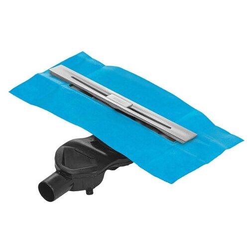 Желоб водосток BERGES SIMPEL 600, матовый хром, боковой выпуск S-сифон D50 H60