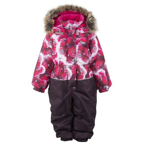 Купить Комбинезон для девочек PAMELA K20422A-2677, Kerry, Размер 92, Цвет 2677-фуксия с ягодами, Теплые комбинезоны