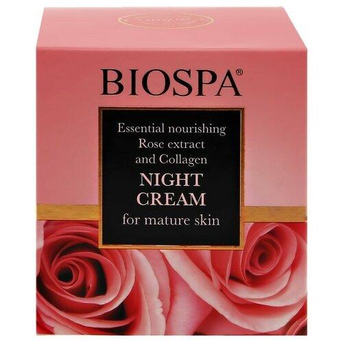 Крем для лица ночной `SEA OF SPA` `BIOSPA` питательный для зрелой кожи с экстрактом розы и коллагеном 50 мл сыворотка для лица sea of spa sea of spa se047lwdjgx6