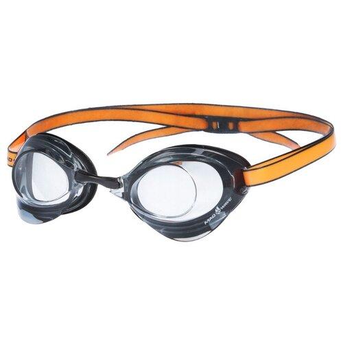 Очки для плавания стартовые Turbo Racer II, M0458 08 0 01W, цвет чёрный/оранжевый очки для плавания mad wave turbo racer ii black orange
