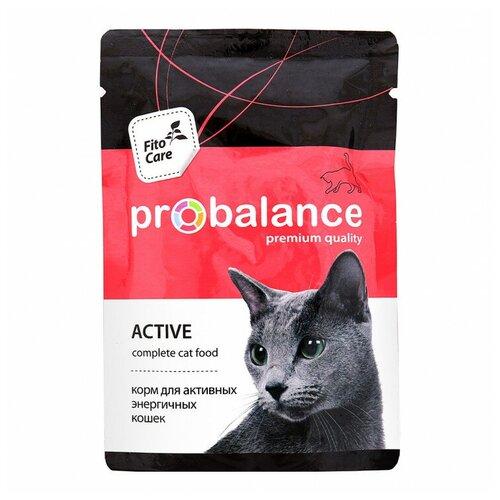 Консервированный корм Пробаланс для активных кошек Probalance Active, 85 г х 25 шт.