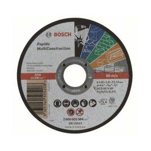 Bosch Отрезной круг Bosch 115x1мм 2608602384