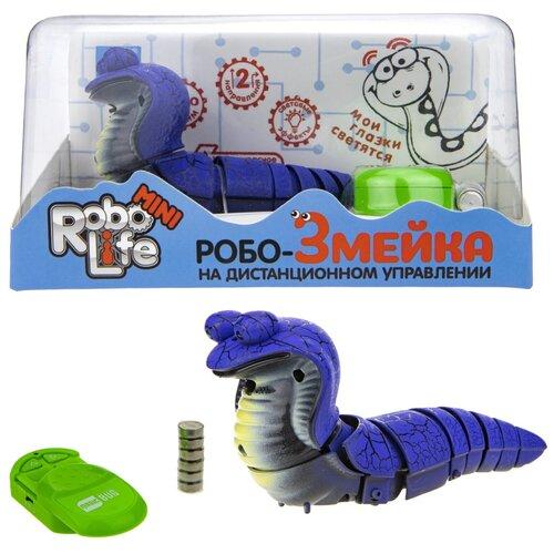 Купить Интерактивная игрушка 1Toy Робо-Змейка, на ИК-пульте, синяя (Т18752), 1 TOY, Роботы и трансформеры