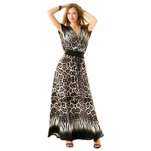 платье bezko bezko mp002xw18tnc Роскошное платье в пол с глубокими V- образными вырезами Bezko (6123, коричневый, размер: 48)