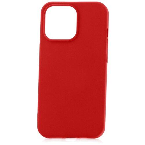 Чехол для Apple iPhone 13 Pro Derbi Slim Silicone-3 красный / чехол на айфон / противоударный чехол на айфон / однотонный чехол / чехол с защитой углов / чехол для Эпл Айфон / бампер на айфон / защитный чехол для iPhone / бампер для iPhone / софт тач чехол / бархатный чехол на айфон / чехол с высоким бортиком для iPhone / чехол с защитой камеры на айфон / силиконовый чехол / пластиковый бампер / защита для айфон 13 про / iphone 13 pro