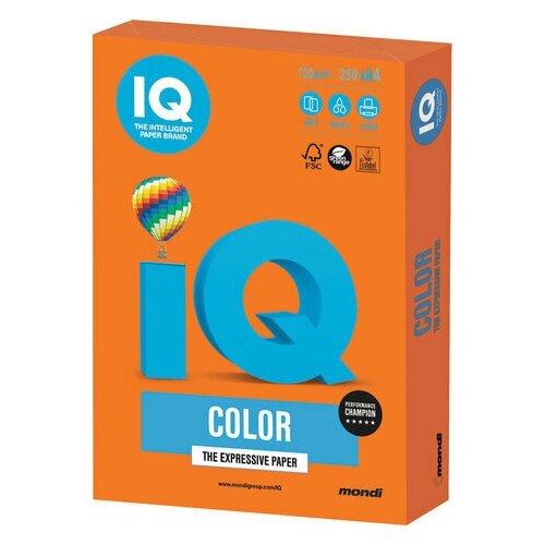 Фото - Бумага цветная IQ color, А4, 120 г/м2, 250 л., интенсив, оранжевая, OR43 бумага цветная iq color а4 160 г м2 100 л 5 цветов x 20 листов микс интенсив rb02