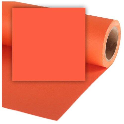 Фото - Фон Colorama Mandarin, бумажный, 2.7x11 м, оранжевый фон бумажный colorama ll co531 1 35x11 м maize
