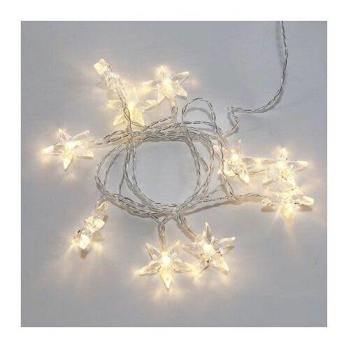 Фото - Гирлянда светодиодная <Звездочки> 1.5 м, 10 LED, прозрачный ПВХ, теплый белый, 2 х АА ( не в комплек (303-091) (NEON-NIGHT) светодиодная уличная гирлянда бахрома neon night синего свечения 2 4х0 6 м 76 led