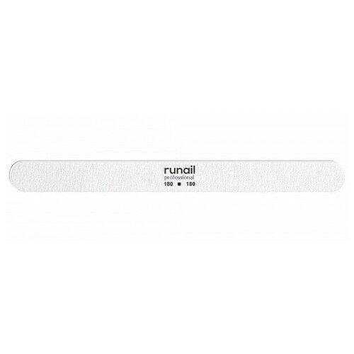 RUNAIL RuNail, пилка для ногтей (белая, закругленная, 180/180), Runail Professional  - Купить