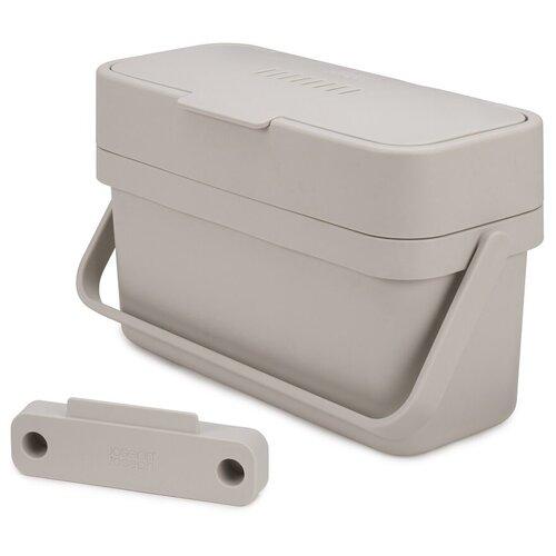 Контейнер для пищевых отходов Compo 4 4 л, цвет серый, материал полипропилен, Joseph Joseph, 30046 контейнер для мусора с прессом titan 20 л серый joseph joseph 30039