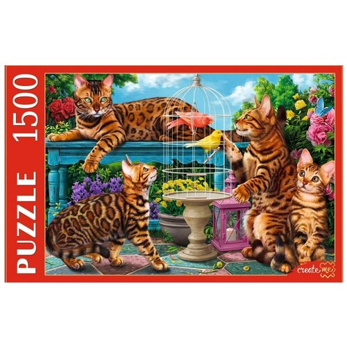 Рыжий Кот Пазл Рыжий Кот 1500 деталей: Бенгальские коты