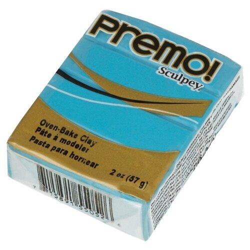 Купить Полимерная глина Sculpey Premo, 57 г, под бирюзу (PE02), Глина